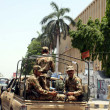 Stockfoto: Army personnel convoy patrol in city for maintain law and order situation for upcoming General Election 2013