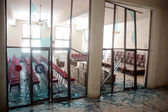 View of destruction after bomb blast, at Quetta press club on Monday, May 13, 2013. — Stock Photo