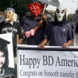 Activists of Aafia Movement are demonstrating in favor of Dr. Aafia Siddique who is prison of USA, on the occasion US Independence Day — Stock Photo