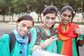 Students of NED University of Engineering and Technology are celebrating on the occasion of Independence Day — Stock Photo