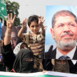 Activists of Jamat-e-Islami are demonstrating to express their solidarity with the people of Egypt and supporters of Morsi — Stock Photo