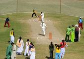 Mädchen-cricket-spieler sind in form, während eine auswahl studie für u19-cricket-nationalmannschaft, organisiert von pakistan kricket-brett — Stockfoto
