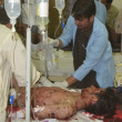 Wounded persons of bomb blast are being treated at Civil Hospital Quetta — Stock Photo