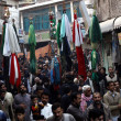 Shiite Muslims participate in religious procession in account of 8th Muharram-ul-Haram — Stock Photo