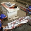 Dead bodies of terrorists belonged to defunct Tehreek-e-Talban kept at Jinnah Hospital mortuary in Karachi — Stock Photo