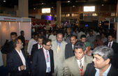 Acting Governor Sindh, Agha Siraj Durani visits Build Asia Exhibition held at Karachi — Stock Photo