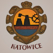 Katowice Coat of Arms - Stock Photo