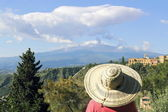 Clouds over Mount Etna — Stock Photo