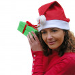Christmas Lady — Stock Photo