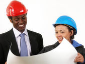 Construction Managers — Stock Photo