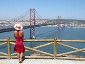 Lady in Red — Foto de Stock