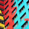 Color Symphony in Prefab — Stock Photo