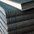 Stock Photo: Antique blue books are stacked