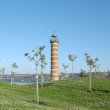 Lighthouse in Belem - Stock Photo