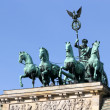 Quadriga of Brandenburg Gate in Berlin, Germany — Stock Photo