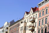 Row houses - a mix of renovated old buildings and new buildings — Stock Photo
