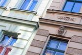 Stuc façades - très beau détail avec stuc sur la façade — Photo