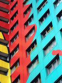 Barevné symfonie v panelových domů — Stock fotografie