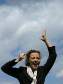 The Businesswoman is very happy — Stock Photo