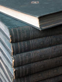 Antique blue books are stacked — Stock Photo