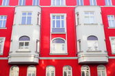 Red old facade in Berlin, Germany — Stock Photo