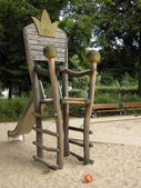 Children's throne on a playground in Berlin — Stock Photo