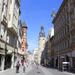 Halle Leipziger Street, Germany - Stock Photo