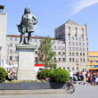 Haendel Monument and Town Hall in Halle (Saale), Germany — Stock Photo