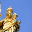 Statue of Our Lady in Munich - Stock Photo