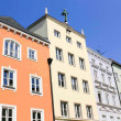 Stock Photo: Renovated row houses in Germany