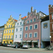 Row of houses in Landshut — Stock Photo