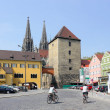 A city on the Danube in central Bavaria, SE Germany - Stock Photo