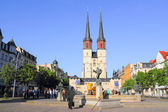 Hall Market and St Mary's Church in Halle (Saale), Germany — Stock Photo