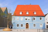 Memmingen Blue House in Germany — Stock Photo