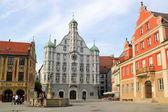 Memmingen Old Market Square, Germany — Stock Photo