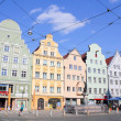 Augsburg - gabled houses — Stock Photo
