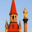 Stock Photo: Old Town Hall and St. Mary's Column