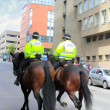 Mounted police in Scottland, UK - Stock Photo