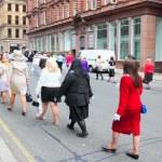 potere di ragazza a glasgow, Scozia — Foto Stock