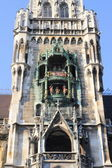 City Hall tower with carillon in Munich, Germany — Stock Photo