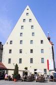 Historiska korv kök i regensburg - en stad på floden donau i centrala bayern se — Stockfoto