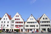 Row of houses in Ulm, Germany — Stock Photo
