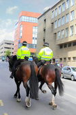 Mounted police in Scottland, UK — Stock Photo