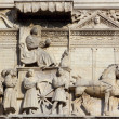 Relief at the Castello Nuovo — Stock Photo