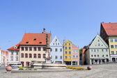 Landsberg upon Lech Head Square — Stock Photo
