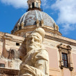 Statue in front of Santa Caterina — Stock Photo