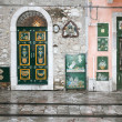 Front doors in Taormina — Stock Photo