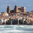 Storm off Cefalu — Stock Photo