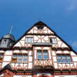 Half-timbered house with a roof tower — Stock Photo
