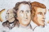 Goethe, Schiller and Fontane — Stock Photo